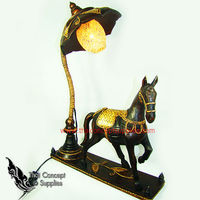 Table Lamps : Horse Wood Craft Models No.1 - Thai Vintage Wood Carving Table Lamps For Home Decor