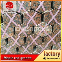 maple red granite G562 saw six edge paving tiles