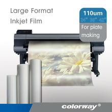 factory supply clear inkjet plastic film for imagesetter