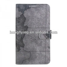 Map style smart leather cover case for samsung galaxy i9300