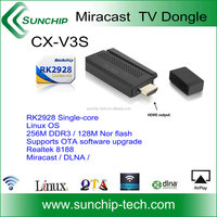 Cheap Price CX-V3S Plus Mini TV Dongle Support DLNA AirPlay Miracast TV Dongle ,the most hot sale tv dongle,1080p dlna/airplay w