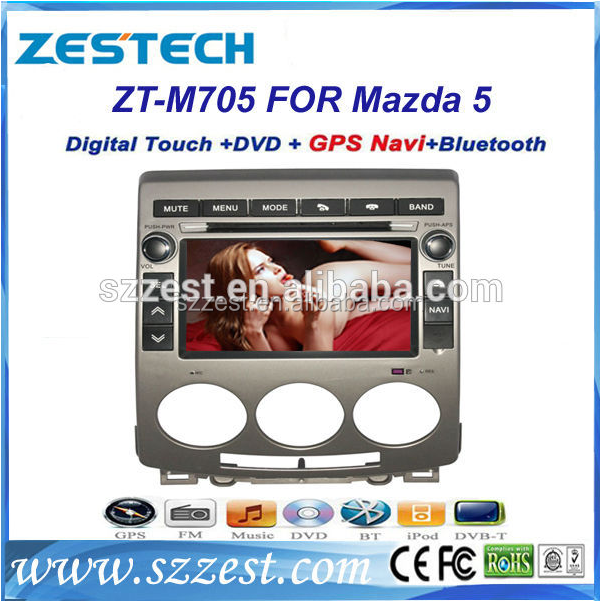 ZESTECH factory 7 inch double din car gps for Mazda 5 car accessories with multimedia functions