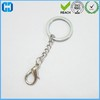 Alibaba Gold Supplier Bag Hanger Metal Key Ring With Chain & Small Lobster Clasp