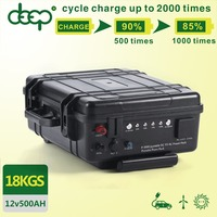 Large capacity portable deep cycle rechargeable lithium dc 12v 500ah lifepo4 battery pack for solar system or home used