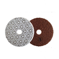 "Diamond flexible Abrasive 4"" polishing pads"