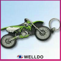 custom rubber motorcycle keychains