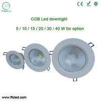 COB led downlight 20w led round recessed downlight plaster ceiling led downlight