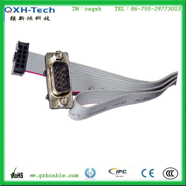 9 PIN IDC cable DB9 male to IDC flat cable