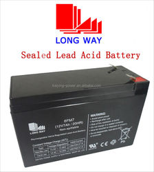 12v rechargeable Lead acid battery 7ah