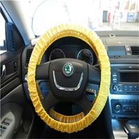 Quite paid off steering wheel with accelerator cover