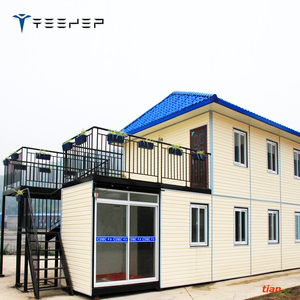 20ft 40ft used shipping luxury home prefab container house prefabricated villa