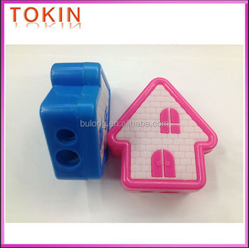 good quality plastic 2holes pencil sharpener stationery sharpener