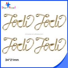 Words shape custom design matal wire crafts