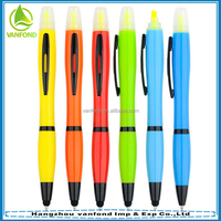 3 in 1 Multi function ball pen with highlighter pen and stylus touch screen pen