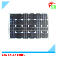 Best quality 80 watt 18 volt monocrystalline solar panel