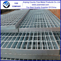 crimped high bearing steel grating stairs
