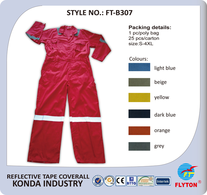 Hi Visibility Polyester Cotton Safety Coverall Dangri Workwear