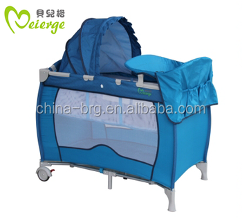 hot selling multifunction baby cots with changing station and canopy with high quality and low price