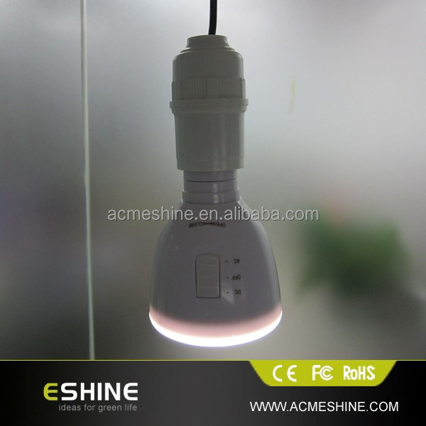 1.7W-5W E27 LED emergency solar bulb lamp