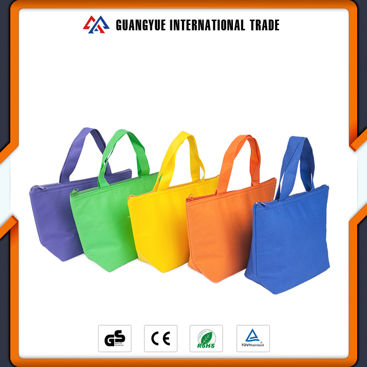 Guangyue 2017 Promotional Wholesale Multifunctional PP Non Woven Picnic Insulated Cooler Bag