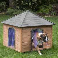 outdoor wooden pet cat cage dog house