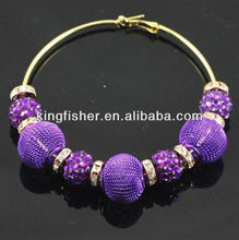 Purple colors Rhinestone&mesh beads Inspired Basketball wives earrings!! Mesh beads Earrings!! Paparazzi Styles!! !!