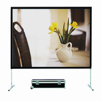 Fast fokd floor stand projection screen