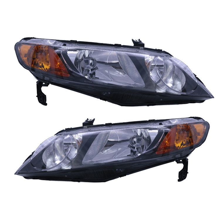 33151-SNA-A02/33101-SNA-A02 JDM Black Auto Headlamp Car Headlights For Honda Civic 2006 2007 2008 2009 2010 2011