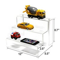3 step acrylic riser display stand/acrylic figure display/ funko pop display stands