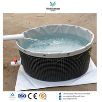 Large and small flexible and foldable pvc tarpaulin fish tank for sale