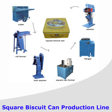 Semi-automatic Rectangular /Square biscuit Can Making Machine line