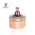 Custom Wholesale Haonai Stripe Candle Glass Jar Glass Candle Holder,Candle Container,Candle Jars with Wooden Lids