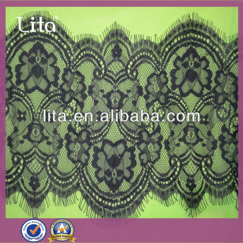 17cm wide jacquard eyelash lace trim for garment