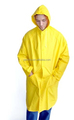 yellow and dark green pvc blue raincoat pvc for adults