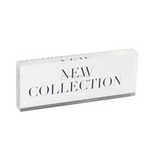 NEW COLLECT ACRYLIC BLOCK POP BLOCK PROMOTION NAMEPLATE