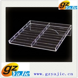 luxurious acrylic square ring tray display