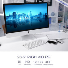 Latest monoblocks pc i5 2410m quad core 23.6 All-in-one PC TV Office Computer