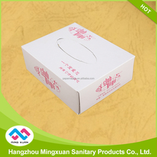 Custom Logo Printed Promotional Flat Box Facial Tissue