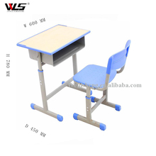 School Furniture suply double student desk and chair