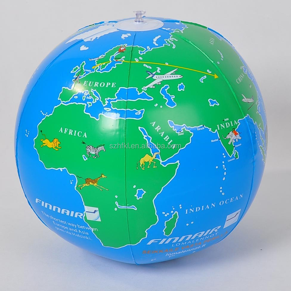 18 inches inflatable earth globe beach ball for kids