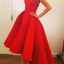 Red formal dress women wear irregular long party wedding ladies dress