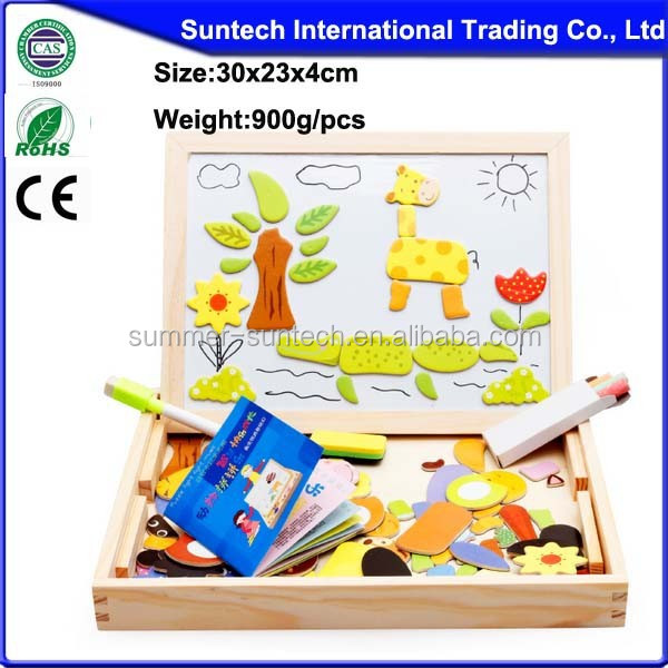 wooden animals magnetic puzzle