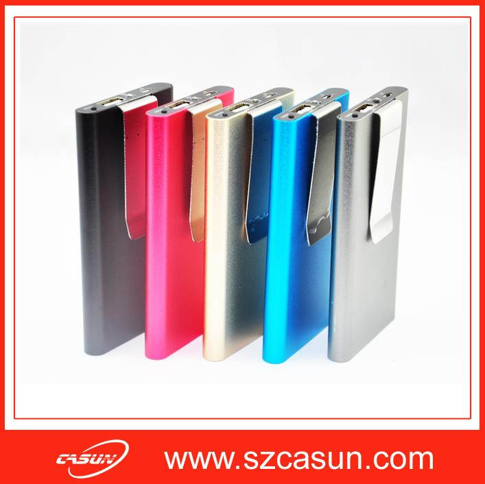 Factory Directly Sale Universal External Battery Charger Portable Thin Power Bank