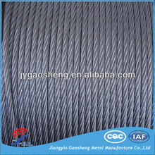 8mm 6x19+PP galvanized steel wire rope