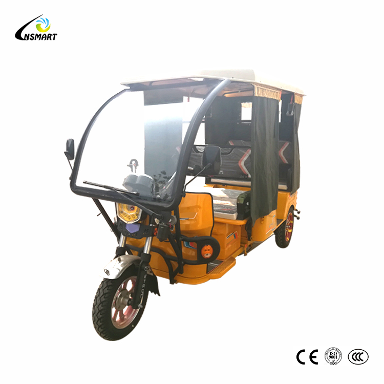 Rain cover battery e rickshaw for sale bajaj tricycle electric motor kit motorized tricycle