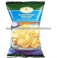 Potato chips Packaging bags with Excellent printing stand up zipper bags bottom gusset zipper bags