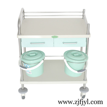 Clean delivery emergency hand push heavy hospital trolley