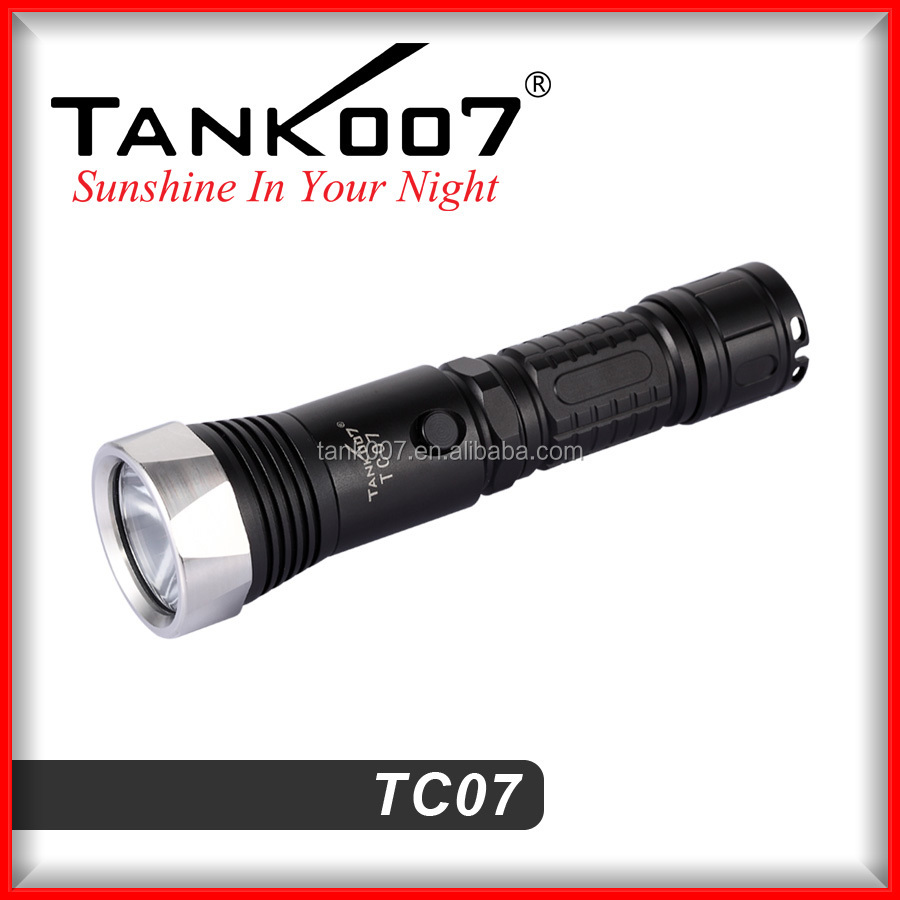 Rechargeable police flashlight torch 800 lumen 300 meters beam distance from Tank007 flashlight manufacturer