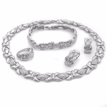 wholesale 925 silver jewelry set jewelry settings and mountings sterling silver Collar y pendiente conjunto de joyas