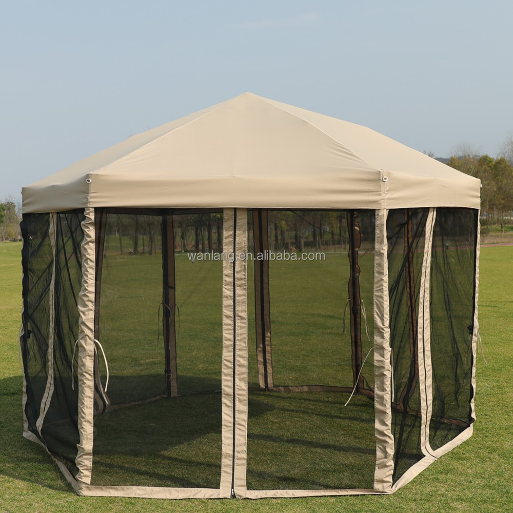 Polyester canopy tent, easy up wind proof outdoor gazebo